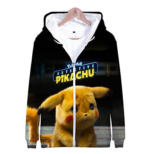 chu Series Zipper Hooded Sweatshirt-3D Japanischer Anime Cosplay Langarm Mantel - Fashion Cool Teen Top Sweater Hoody,3XL-Schwarz Gelb ()