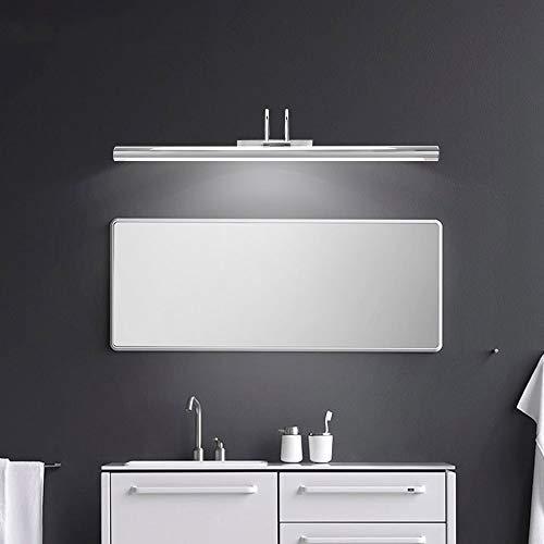 WYDM Moderne led spiegelleuchte ac90-260v wand industrielle wandleuchte badezimmer licht wasserdicht edelstahl (Color : Silver-40cm) - Für Lichtbalken Badezimmer