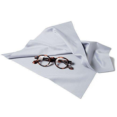Preisvergleich Produktbild FEFI® - Großes XXL Profi Brillenputztuch grau 35 x 35 cm - Mikrofaser in hochwertiger Optikerqualität - waschbar - Auch für alle Displays geeignet