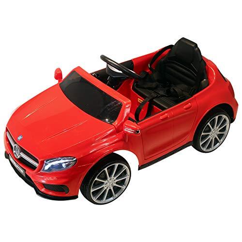HOMCOM Coche Eléctrico para Niño 3-8 Años Automóviles Infantiles Mercedes Benz GLA con Mando a Distancia MP3 USB Carga 30kg...