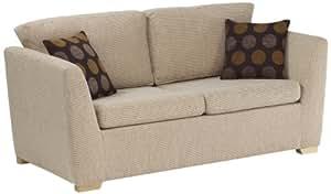 churchfield Canapé-lit Riley tissu tissé Canapé avec flocons d'avoine, beige