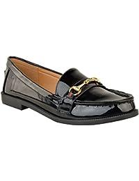 Fashion Thirsty heelberry Mujer Plano Bocado Mocasines Zapatos de Colegio Diseñador Elegante Oficina Zapatillas