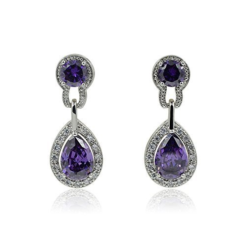 purpura-de-pera-circonitas-plata-dangle-pendientes-de-gota-con-caja-de-regalo