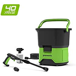 Greenworks 5104507 GDC40 DC Portable Cordless Pressure Washer, 40 V, Green