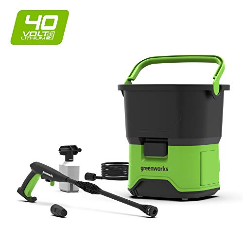 Greenworks Tools 5104507 GDC40 DC Portable Cordless Pressure Washer, 40 V, Green