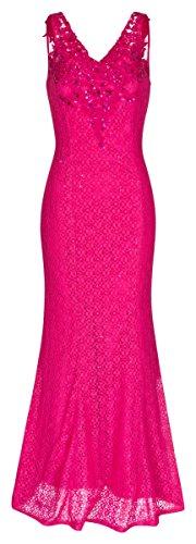 Abendkleid Ballkleid Festkleid Hochzeitskleid 1524 Pink (36)