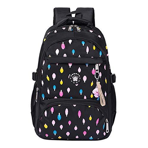 E/w Satchel (HPADR Kinderrucksack Drucken Von Kinder-rucksäcken Schulbeutel Für Mädchen Grundschüler Rucksack Satchel Rucksack W schwarz)
