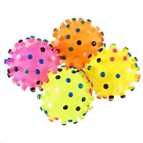 Unitedheart Hunde Reifen Bälle, 1 Stück Haustier Hund Welpen Katze lustige Kichern Quietschende Quietsche Quack Sound Zerren Kauen Ball Spielzeug Haustier Zubehör Geschenke