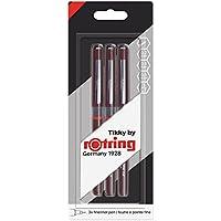 Rotring (1904811) Tikky Graphic Fineliner conjunto de bolígrafos de punta fina de 0,20mm, 0,40mm, 0,80mm (blíster de 3)