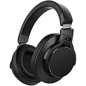 Mixcder E8 Active Noise Cancelling Bluetooth Headphones with Microphone Wireless Over Ear Headset with Stereo Sound, Deep Bass, Portable Design for Travel, TV, PC, Phones - Black