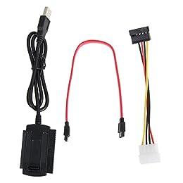 amazingdeal365SATA/PATA/IDE-Laufwerk auf USB 2.0Adapter-Kabel für 2,5/3,5Festplatte