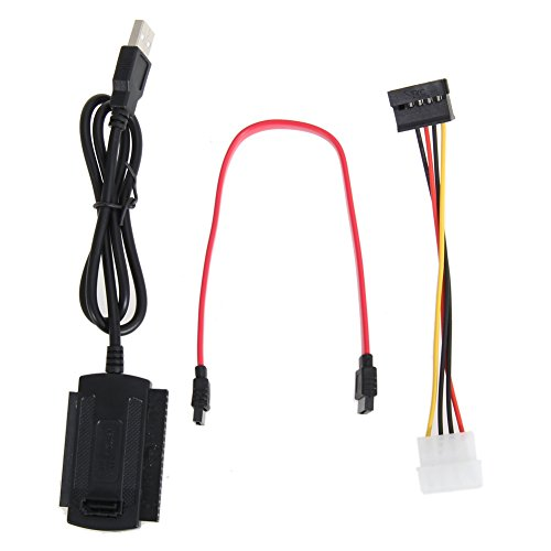 prettygood7 SATA/PATA/IDE-Laufwerk auf USB 2.0 Adapterkabel für 2,5/3,5 Festplatten