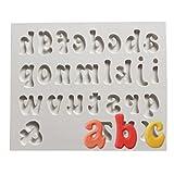 Lalang Silikon Zahlen and Buchstaben DIY Kuchen Ausstecher Alphabet Form Fondant Kuchenform (Alphabet B)