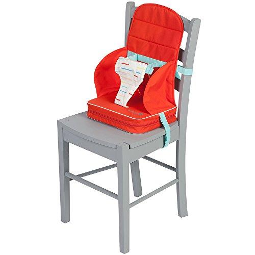 Safety 1st Travel Booster Rialzo Sedia per Bambini, Pieghevole, Imbottitura Extra, per Bambini dai 6 mesi ai 36 mesi, Red Line