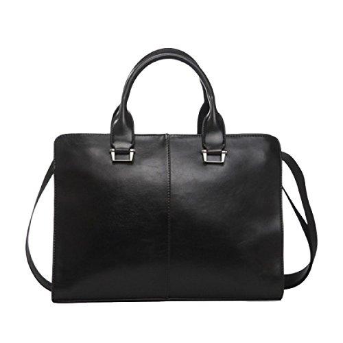 Pu Casual Business Handtasche Diagonal Kreuz Tasche Schulter Tasche Männer Tasche Mode Atmosphäre Wild Black