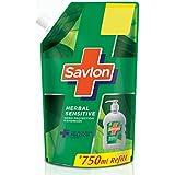 Savlon Herbal Sensitive pH balanced Liquid Handwash Refill Pouch, 750ml
