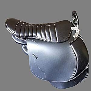GCSEY Pferdesattel Sattlerei Doppel Sattel Reiten Sattel Für Zwei Person PVC Tourist Eltern-Kind-Sattel Komfortabler Halfter Equestrian