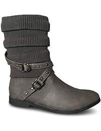 quality design ce5fb ce73b Suchergebnis auf Amazon.de für: flache stiefel - Stiefel ...