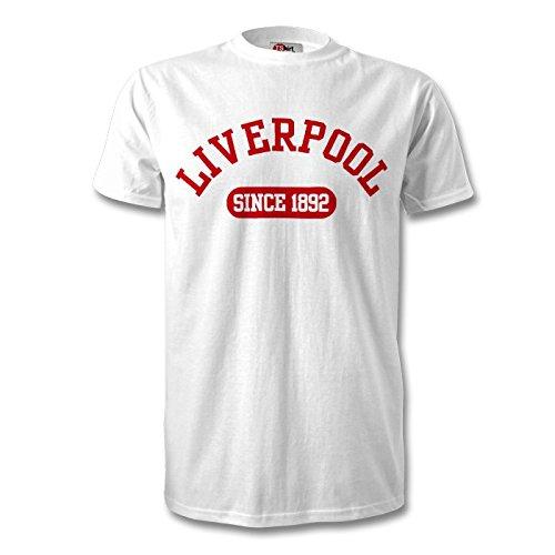 258fdc6fe89 Liverpool Established Football T-shirt White Red
