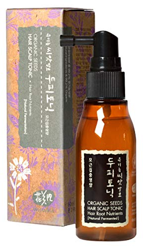 WHAMISA Organic Seeds Hair Scalp Tonic - Haarserum gegen Haarausfall und Schuppen - Tägliche Anwendung ohne Ausspülen - Haarwachstum Beschleunigen - Koreanische Naturkosmetik 30ml