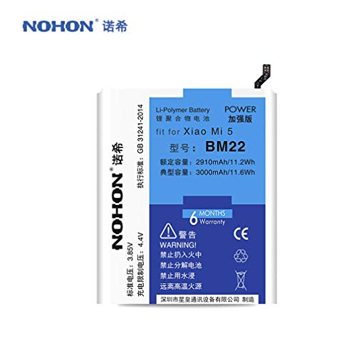 Leoboone 3000mAh Large Capacity Mobile Phone Battery Replacement Battery Phone Batteries Suitable for Xiaomi Mi5 BM22