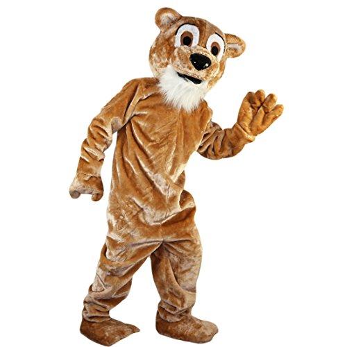 Langteng braun Tiger Löwe Cartoon Maskottchen Kostüm Echt Bild 15-20Tage Marke (Tiger Maskottchen Kostüm)
