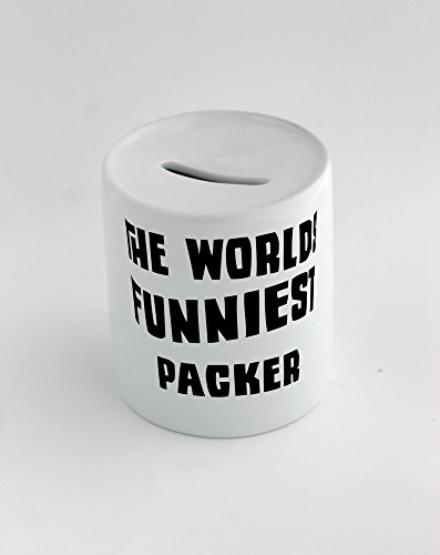 Money box with THE WORLD'S FUNNIEST Packer