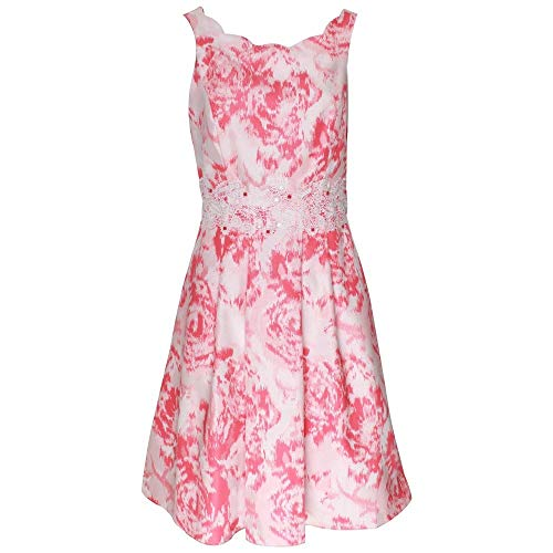 Michaela Louisa Sleeveless Scallop Neckline Fitted Dress