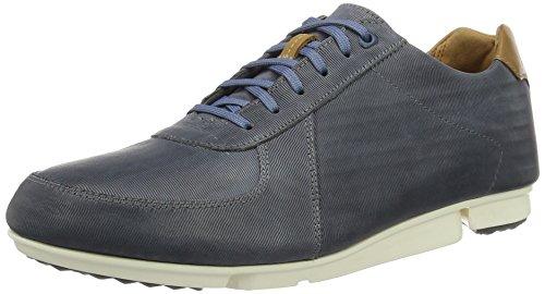 Clarks Triturn Race, Sneakers Basses Homme Bleu (Denim Blue Lea)