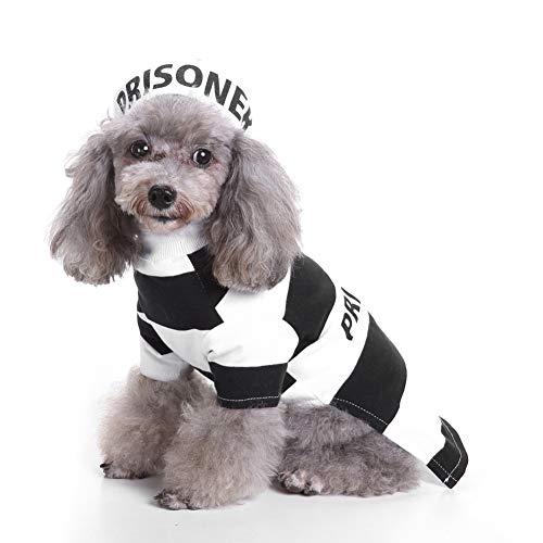 WENXX Hund Und Katze Weihnachtskostüme, Haustier Häftling Kostüm Party Rollenspiel, Halloween Kostüme, Geben Haustiere EIN Gutes Geschenk,M (Kostüm Eine Halloween-party Für Gutes)