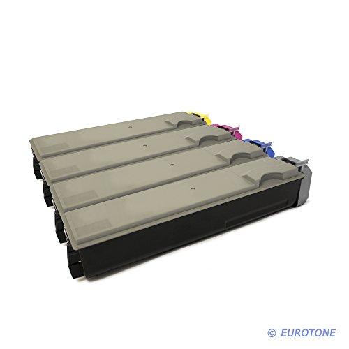 Preisvergleich Produktbild Eurotone Toner mit 50% mehr Leistung für Mita FS-C5015 N ersetzen Kyocera TK-520 BK TK-520 C TK-520 Y TK-520 M im Bundle