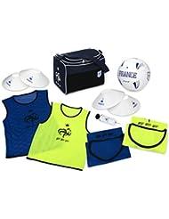 Sac FFF + Ballon de football + 4 chasubles + 4 plots + pompe - Collection officielle Equipe de France