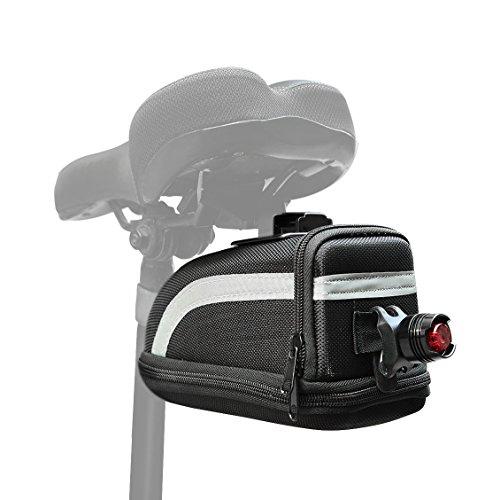 Satteltasche, Fahrrad Satteltasche & Set Rücklicht für Fahrrad Rücksitz Pack Aufbewahrungstasche tp215 Für Outdoor Radfahren