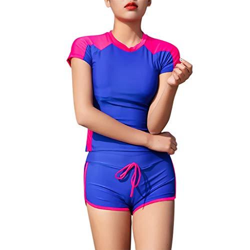 COZOCO HeißEr Bademode Frauen Langarm Neoprenanzug Uv Sonnenschutz Tauchanzug UPF 50 + Rash Guard Top 2 StüCk Badeanzug Set