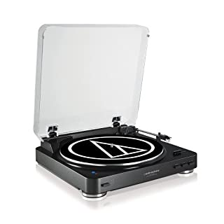 Audio-Technica AT-LP60BKBTU Fully Automatic Wireless Belt-Drive Stereo Turntable - Black