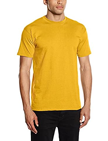 Fruit of the Loom - T-shirt - Regular - Col rond - Manches courtes Homme, Jaune (Sunflower Yellow), X-Large