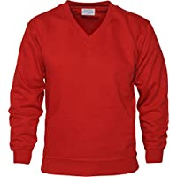 Absolute Apparel Aa V Neck Sweat - Red - XL