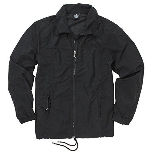 Ahorn Sportswear Fitness Jacke Übergöße - Schwarz, Größe:7XL
