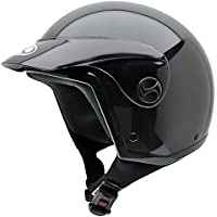 NZI Homologado Black Peak Casco de Moto, Negro, 59 (XL)