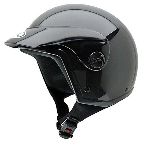NZI Homologado Black Peak Casco de Moto, Negro, 54 (XS)