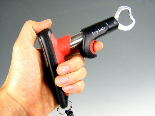 Grauvell Lip Grip mit Digital-Waage 25kg Lip Lipp Grip Fischgreifer Landehilfe Waage