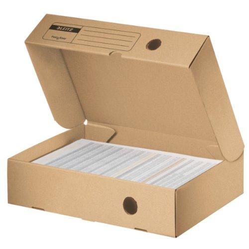 Leitz Archiv-Klappschachtel Fast & Easy, 80mm, naturbraun (Karton-recycling-container)