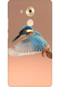 AMEZ designer printed 3d premium high quality back case cover for Huawei Mate 8 (Beautiful Flapping Kingfisher Bird)