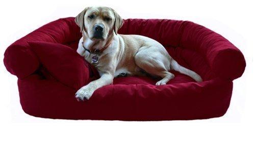 P3-04 Paula Hundesofa Hundebett von tierlando Gr.M 80x60cm Bordeaux