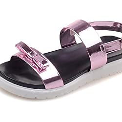 UWSZZ IL Sandali eleganti comfort Scarpe Donna-Sandali-Formale / Casual-Plateau / Creepers / Aperta-Plateau-Vernice-Blu / Rosa / Argento , pink-us8 / eu39 / uk6 / cn39 , pink-us8 / eu39 / uk6 / cn39