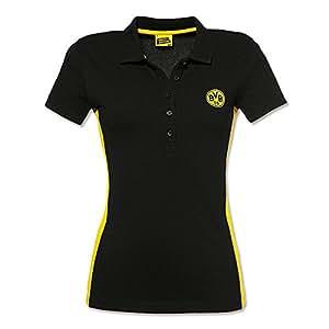 BVB 09 Borussia Dortmund Damen Polo-Shirt schwarz Gr. M Frauen Shirt Poloshirt 15217401