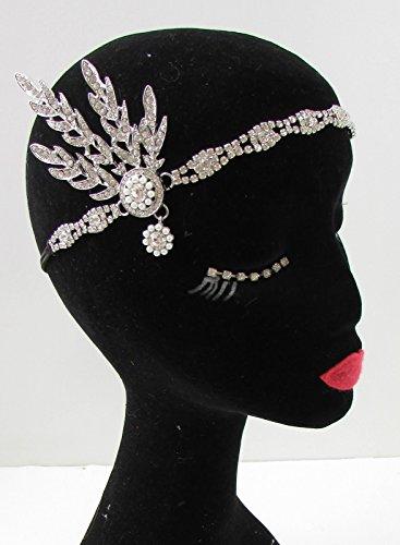 Argent Ivoire Bandeau Gatsby ANNÉES 1920 Flapper Daisy VTG mariée B30 * * * * * * * * exclusivement vendu par – Beauté * * * * * * * *