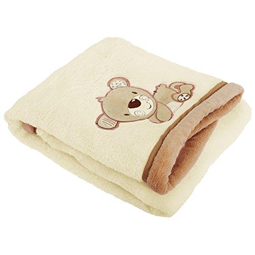 Universaltextilien Baby Jungen/Mädchen Supersoft Decke Teddybär (75 x 100 cm) (Creme)