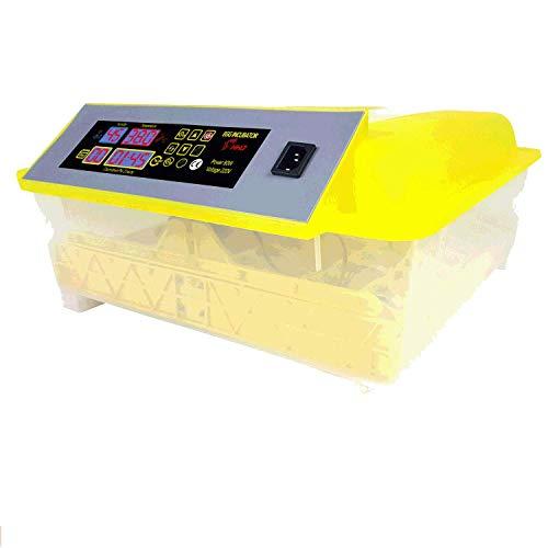 Pujuas Incubatrice Automatica per 48 Uova, Digitale Incubatore con Schermo a LED di Temperatura e Sensore di Temperatura Preciso