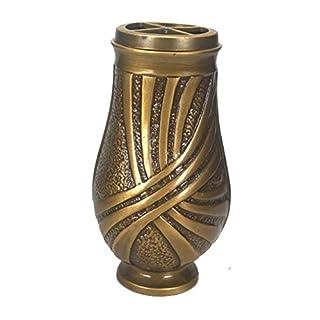 Art-Odlew Grabvase Marburg aus Bronze , D=11cm H=22cm 2,2Kg